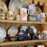 fiddle lessons dresser tea delph old photograph