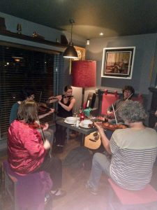 session at the cliffs of moher hotel liscannor october 2017 burren fiddle holidays