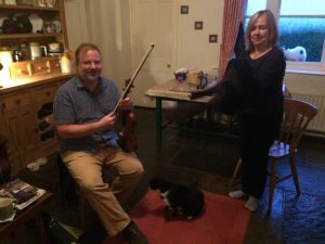 Session by the Range at Burren Fiddle Holidays HQ