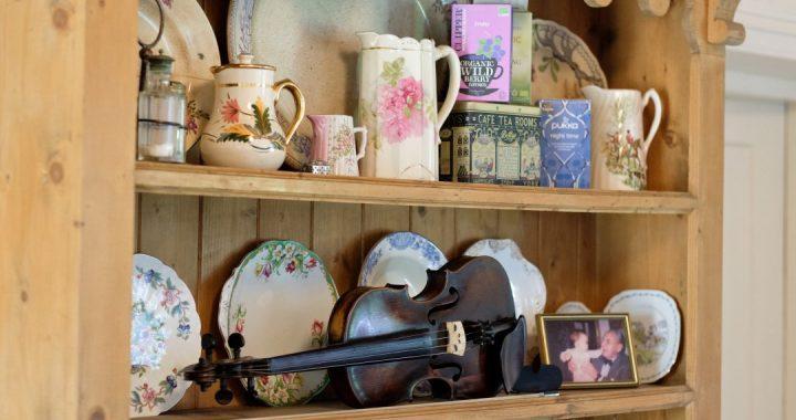 fiddle lessons dresser tea delph old photograph